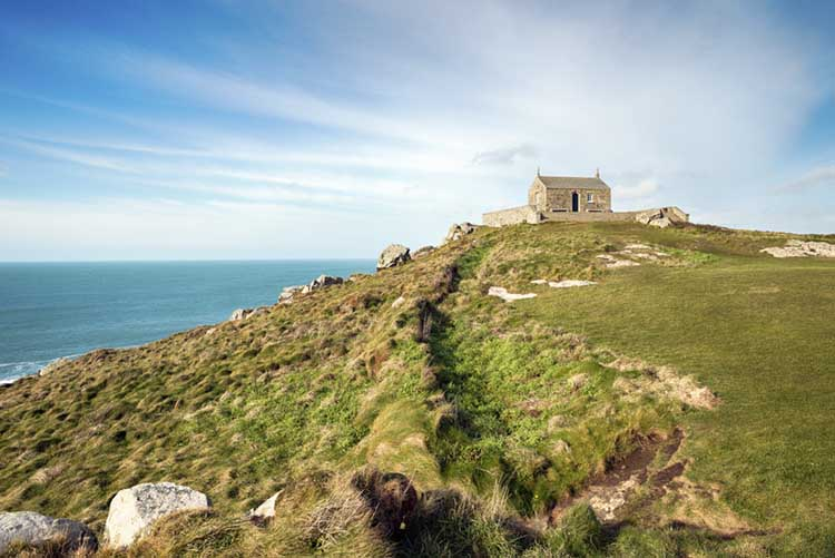 [St Ives, Cornwall - Island Hill and St Nicholas Chapel]