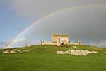 [Island and St Nicholas Chapel with Rainbow]