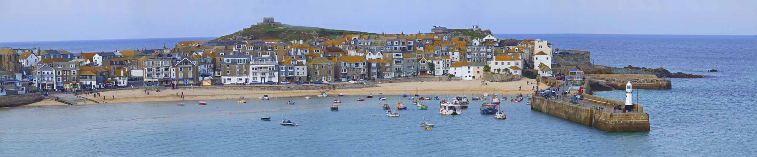 [St Ives Harbour and Island Chapel]
