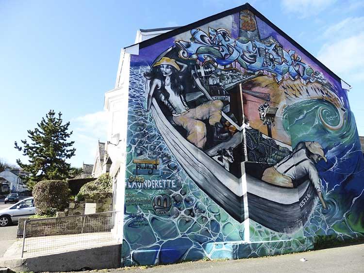 [St Ives - Launderette Mural #2]