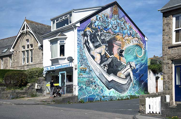 [St Ives - Launderette Mural]