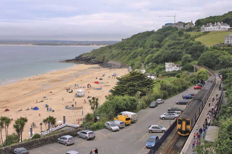 [Porthminster Beach with Train]