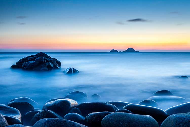 [St Just - The Brisons, Twilight at Porth Nanven]