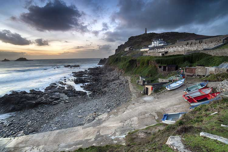 [St Just - Dusk over Cape Cornwall and Priest's Cove]