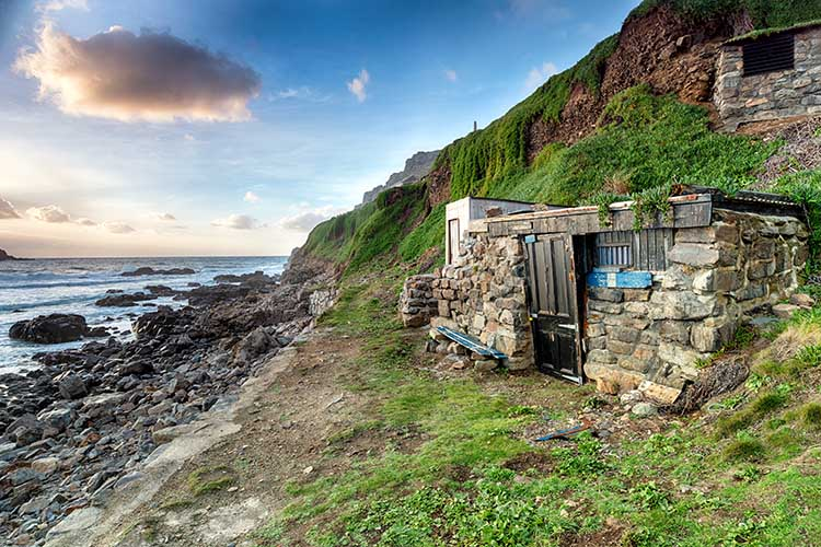 [St Just - Fishing Huts at Priest's Cove, Cape Cornwall]