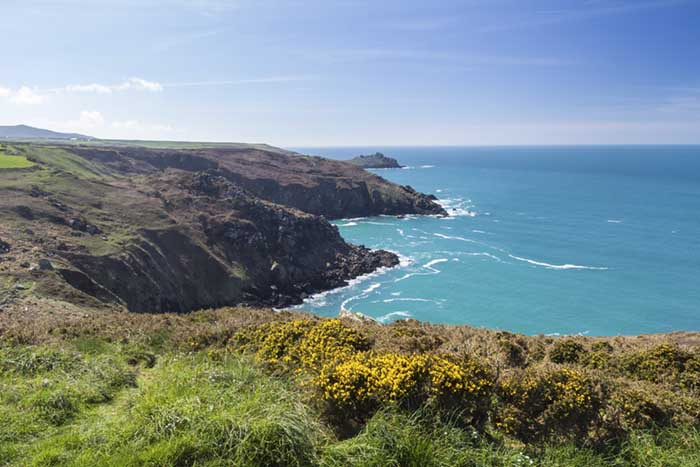 [Pendour and Veor Coves, looking toward Gurnard's Head, Cornwall]