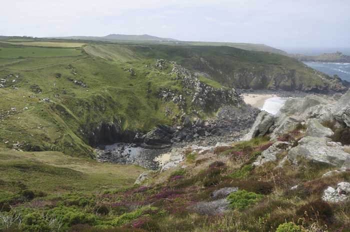 [Pendour and Veor Coves and Trewey Hill, looking toward Gurnard's Head, Cornwall]