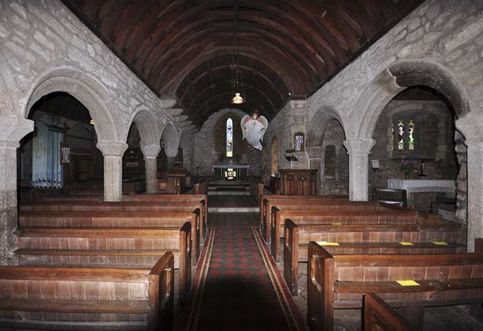 [St Senara's Church Interior #2, Zennor, Cornwall]